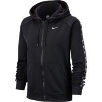 Nike NSW HOODIE FZ LOGO TAPE čierna M - Dámska mikina