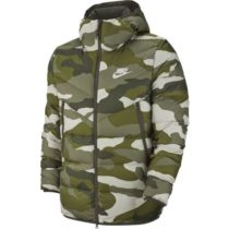 Nike NSW DWN FILL WR JKT HD AOP M béžová M - Pánska bunda