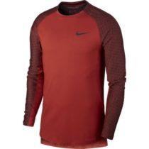 Nike NP TOP LS UTILITY THRMA M červená XL - Pánske tričko s dlhým rukávom