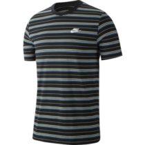 Nike NSW TEE STRIPE SS čierna M - Pánske tričko