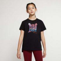 Nike NSW TEE DPTL SUPER GIRL WILD čierna L - Dievčenské tričko