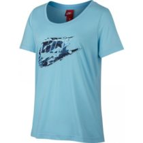 Nike W NSW TEE SCOOP ROCK GRDN modrá M - Dámske tričko