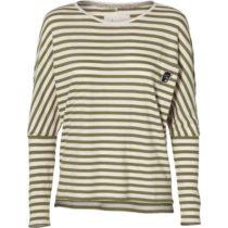 O'Neill LW ESS STRIPED L/S T-SHIRT béžová S - Dámske tričko