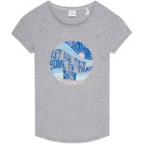 O'Neill LW LET ME GET GRAPHIC  T-SHIRT šedá XS - Dámske tričko