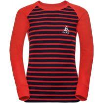 Odlo BL TOP CREW NECK L/S ACTIVE WARM KIDS červená 128 - Detské tričko s dlhým rukávom