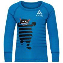 Odlo BL TOP CREW NECK L/S ACTIVE WARM TREND K modrá 104 - Detské tričko