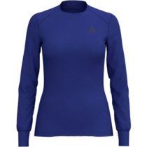 Odlo BL TOP CREW NECK L/S ACTIVE WARM modrá M - Dámske tričko