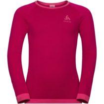 Odlo BL TOP CREW NECK L/S PERFORMANCE WARM KI červená 140 - Detské tričko
