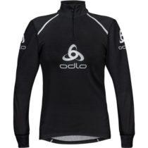 Odlo STAND-UP COLLAR L/S 1/2 ZIP ORIGINALS LIGHT LOGOLINE čierna XL - Pánske funkčné tričko