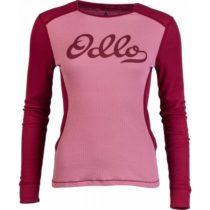 Odlo WARM CREW L/S W ružová XL - Dámske funkčné tričko