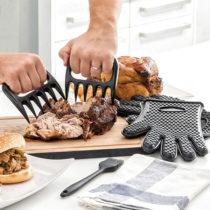 Pazúry na trhanie mäsa s chňapkami a štetcom