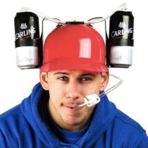 Pivná helma - červená