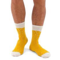 Pivné ponožky - žlté