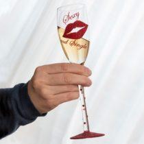 Pohár na šampanské Sexy and Single