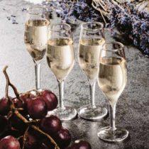 Poldecáky v tvare pohárov na šampanské (4 kusy)