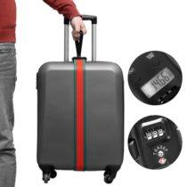 Popruh na batožinu s váhou a zámkom
