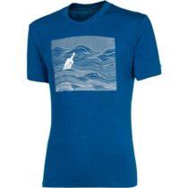 Progress SS SKIPPER MAN modrá M - Pánske bambusové tričko