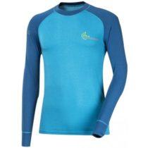 Progress SS BAMBOO LS M modrá L - Pánske funkčné tričko