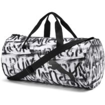 Puma AT ESS BARREL BAG biela NS - Dámska športová taška
