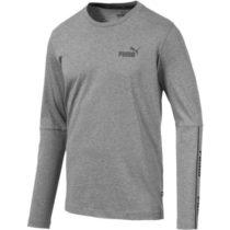 Puma AMPLIFIED LS TEE šedá S - Pánske tričko