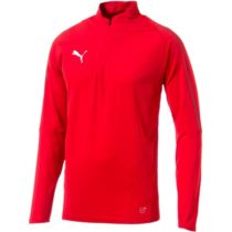 Puma FINAL TRAINING 1/4 ZIP TOP červená S - Pánske športové tričko