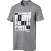 Puma TEE sivá S - Pánske štýlové tričko