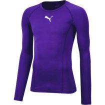 Puma LIGA BASELAYER TEE LS fialová M - Pánske tričko