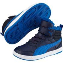 Puma REBOUND STREET V2 FUR PS modrá 11 - Detská zimná obuv