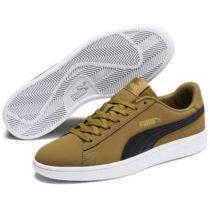 Puma SMASH V2 BUCK zelená 7.5 - Pánska voľnočasová obuv