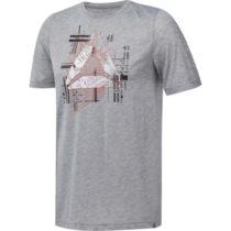 Reebok GS FOUNDATIONS AOP šedá L - Pánske tričko