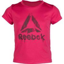 Reebok GIRLS WORKOUT READY T-SHIRT ružová 7-8 - Dievčenské tričko