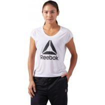Reebok WOR SUPREMIUM 2.0 TEE BIG biela L - Dámske športové tričko