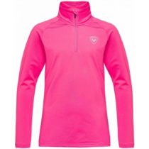 Rossignol GIRL 1/2 ZIP WARM STRETCH ružová 12 - Juniorský rolák