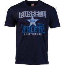 Russell Athletic CHAMPIONSHIP tmavo modrá M - Pánske tričko