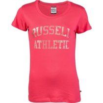 Russell Athletic ICONIC ARCH LOGO PRINT ružová S - Dámske tričko