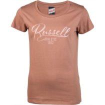 Russell Athletic DÁMSKE TRIČKO hnedá XL - Dámske tričko