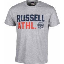 Russell Athletic S/S CREW NECK TEE šedá S - Pánske tričko