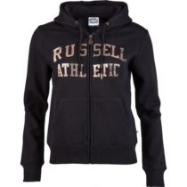 Russell Athletic ZIP THROUGH LOGO HOODY čierna L - Dámska mikina