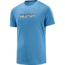 Salomon AGILE GRAPHIC TEE M modrá S - Pánske bežecké tričko