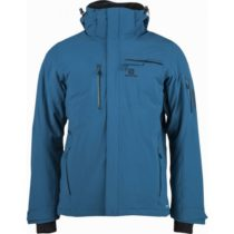 Salomon BRILLIANT JKT M tmavo modrá S - Pánska lyžiarska bunda