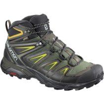 Salomon X ULTRA 3 MID GTX tmavo zelená 9 - Pánska hikingová  obuv