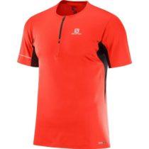 Salomon AGILE HZ SS TEE M červená XL - Pánské triko