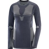 Salomon PRIMO WARM LS CN TEE W sivá L - Dámske tričko