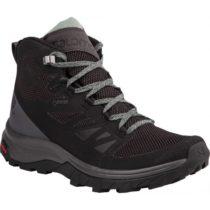 Salomon OUTLINE MID GTX W čierna 6.5 - Dámska turistická obuv