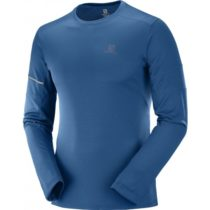 Salomon AGILE LS TEE modrá XXL - Pánske tričko