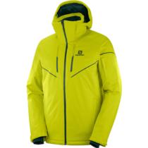 Salomon STORMRACE JKT M žltá M - Pánska lyžiarska bunda