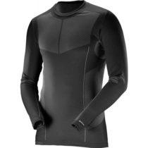 Salomon PRIMO WARM LS CN TEE M čierna S - Pánske termo tričko