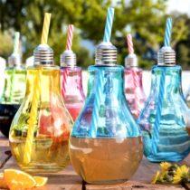 Sklenené poháre v tvare žiarovky (6 kusov)
