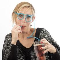 Slamka v tvare okuliarov