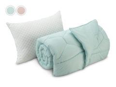 Paplón + vankúš Dormeo Sleep Inspiration, 140x200 cm, azurová